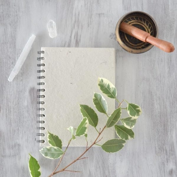 Plain Notebook white decor